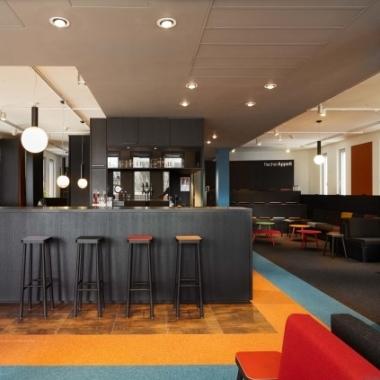 """Unserer Münchener """"Infinity Office"""" inspiriert vom Corporate Design der Olympischen Spiele 1972"""