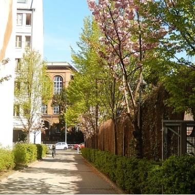 Einfahrt zum Gewerbehof, in dem sich unser Unternehmensstandort und unsere Büroräume befinden. Hier die  Auffahrt von der Schöneberger Grunewaldstraße aus.