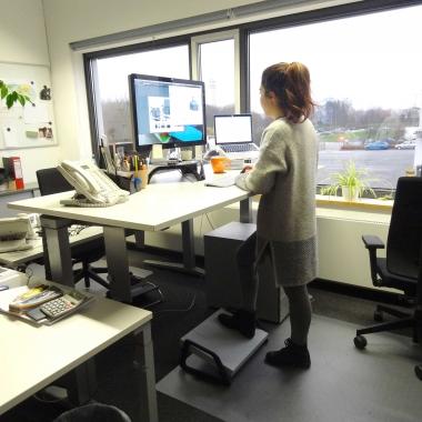 Flexibles Arbeiten durch höhenverstellbare Schreibtische