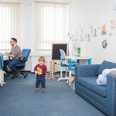 """Unser """"Eltern-Kind-Büro"""" für kurzfristige Ausfälle in der Kinderbetreuung."""