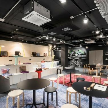 Coworking Lounge am Standort Stuttgart Tower