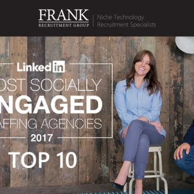 "Oktober 2017 - Die Frank Recruitment Group hat es unter die Top 10 der ""Most Socially Engaged Staffing Agencies on LinkedIn"" geschafft, und ist somit bereits das zweite Jahr infolge unter den Top ..."