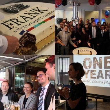 September 2017 - Das Berliner Büro der Frank Recruitment Group feiert 1-jähriges Jubiläum!