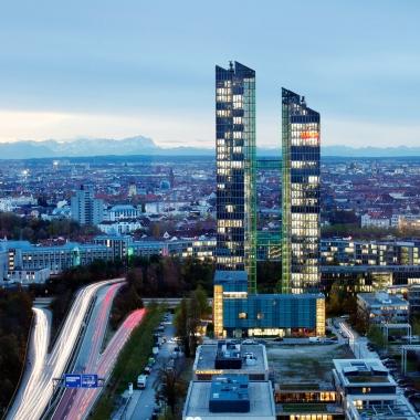 Unser Firmensitz in den Münchner Highlight Towers