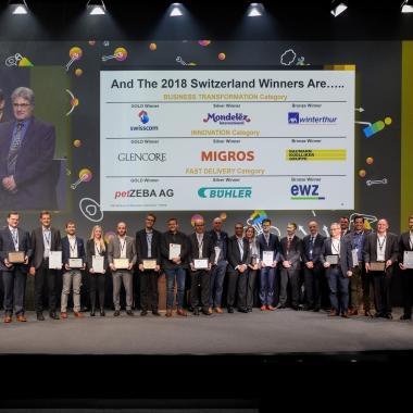 Gemeinsam mit unserem Kunden AXA Winterhur haben wir den SAP Quality Award Bronze 2018 in der Kategorie Business Transformation gewonnen!