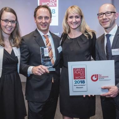 Stolzer Gewinner der GPTW Auszeichnung 2018 - in drei Kategorien angetreten und in drei Kategorien ausgezeichnet worden!