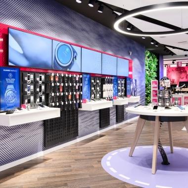 Die Shops von T-Mobile sind individuell gestaltet und modern ausgestattet.