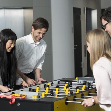 Zeit für spielerische Pausen im EY Office in Stuttgart.