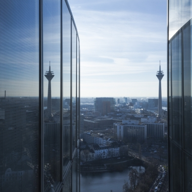 Ausblick aus dem EY Office in Düsseldorf.