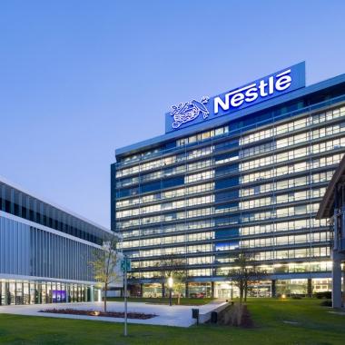 Der Arbeitsplatz von über 1200 Mitarbeitern: Die Firmenzentrale der Nestlé Deutschland AG in Frankfurt am Main