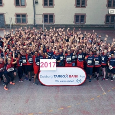 Team der TARGOBANK beim Firmenlauf TARGOBANK Run 2017