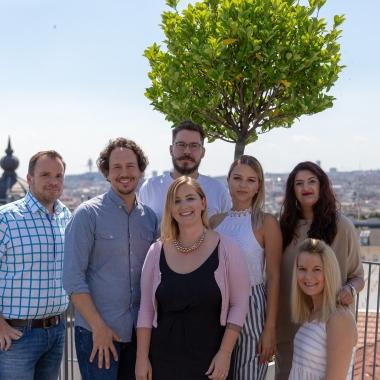 Das ganze Team auf einem Bild. Alfons, Stefan, Marcus, Anja, Cynthia, Sheila, Natalie (v.l.).