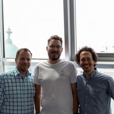 Unsere apsa-Männer. Alfons, Marcus und Stefan (v.l.)