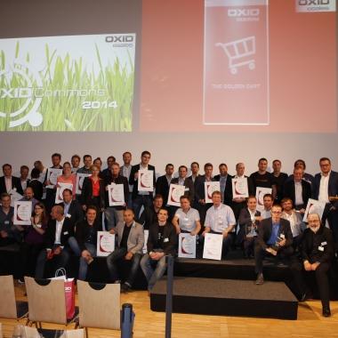 eWorks - On-The-Road bei der OXID-Golden-Cart Preisverleihung - Findest Du die eWorker auf dem Foto?