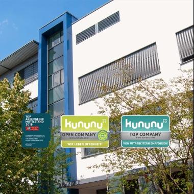 eWorks - Wir wurden als Kununu Open Company und Kununu Top Company ausgezeichnet