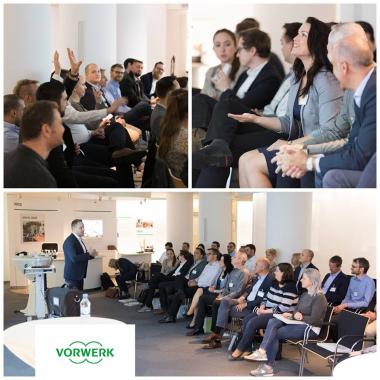 Für viele neue Mitarbeiter werden Einführungsveranstaltungen organisiert: Hier geht es um die ganze Welt von Vorwerk: Produkte, Geschäftsfelder, Strategien - ein wichtiger Baustein für die zukü...
