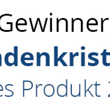 Zum ersten Mal wurden wir mit dem Kundenkristall für das beste Produkt ausgezeichnet.
