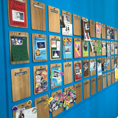 The LeanIX Wall of Fun&Fame shows the creative side of our employees.