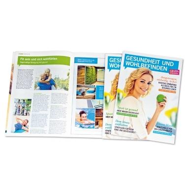 """Gesund bleiben und sich wohlfühlen - das sind die Themen des Magazins """"Gesundheit und Wohlbefinden""""."""