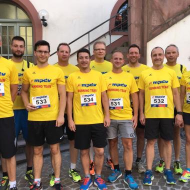 Als Hauptsponsor des Stadtlaufs in Mosbach sind wir top-motiviert am Start.