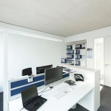 Von Mitarbeitern gestaltete Büroräume