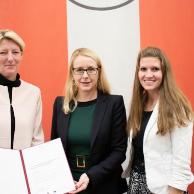 Verleihung des IFA Qualitätslabels für Lehrlingsmobilität Foto© BMDWDolencHartberger