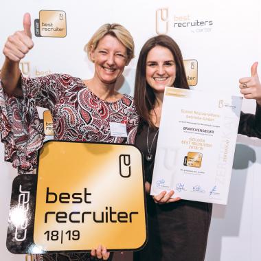 3. Platz und Branchensieger bei der diesjährigen bestrecruiters-Studie. Wir freuen uns sehr das goldene Siegel erneut tragen zu dürfen!Fotos: © GPK/Philipp Lipiarsk