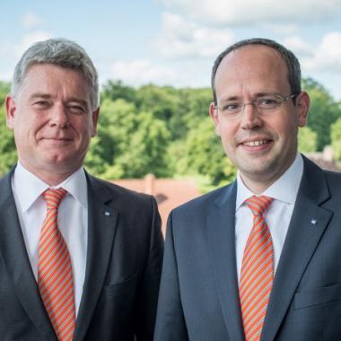 Unser Vorstand: Mathias Knoll und Jan Mackenberg (v.l.n.r.).