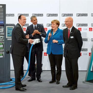 Der Besuch von Kanzlerin Angela Merkel und des 44. US-Präsidenten Barack Obama auf der Hannover Messe 2016