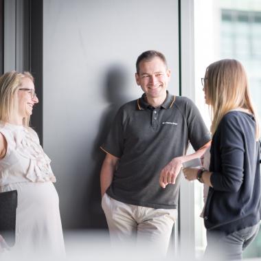 Famlienfreundlichkeit - ein wichtiger Bestandteil unserer Kultur. Aufgenommen im Innovations Campus in Eschborn.