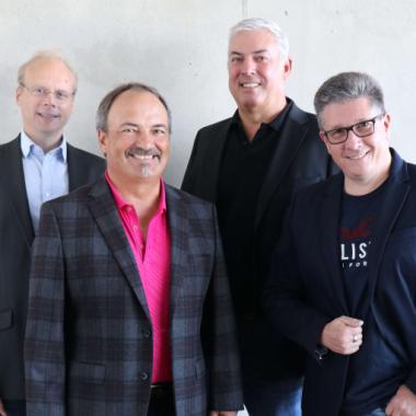 Der AraCom Vorstand: Dr. Christian Teitzel, Lothar Härle, Alexander Waidmann und Winfried Busch.