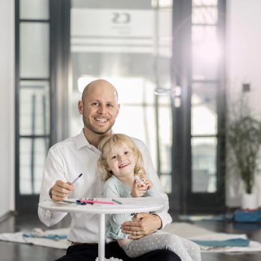 #TeamPlayer - Christian ist ein echtes Organisationstalent: im Züricher Office und als Familienvater.