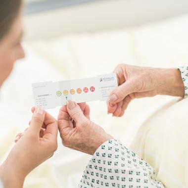 Wir interessieren uns dafür, wie es unseren Patientinnen und Patienten geht.