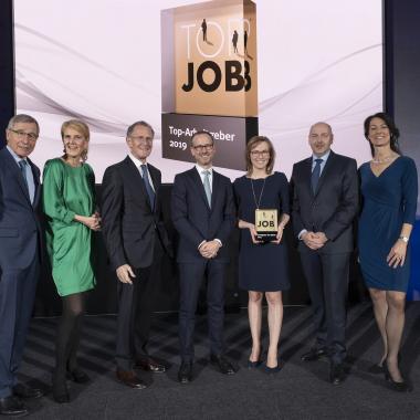 """TOP JOB-Siegel """"Arbeitgeber des Jahres 2019"""""""