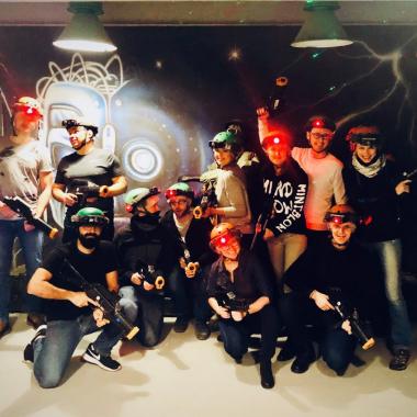 Unsere polnischen Kollegen beim Lazer-Tag Team Event...