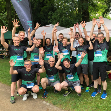 Immer wieder gehen wir bei Laufevents wie dem JPMorgan Lauf in Frankfurt, dem 10 Freunde Triathlon in Darmstadt oder dem B2Run-Lauf in Köln an den Start.