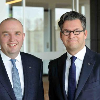 Die Geschäftsführer der MediFox GmbH Herr Christian Städtler und Herr Dr. Thorsten Schliebe.
