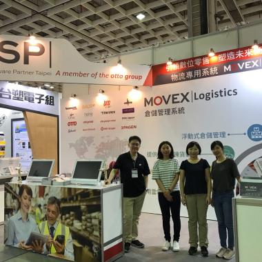 Kollegen von OSP Taipei auf der Taipei Logistics Messe.