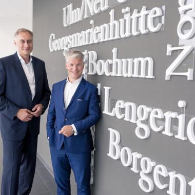 Unsere Geschäftsführung. Rechts Sven Becker, links Dr. Oliver Runte.