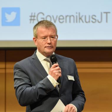 Unser Geschäftsführer Dr. Stephan Klein bei der Governikus Jahrestagung 2019 in Berlin.