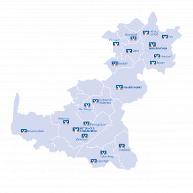 In der Elbe-Weser-Region verwurzelt, kennen und unterstützen wir die Menschen in unserem Geschäftsgebiet. Durch unser dichtes Geschäftsstellennetz bieten wir kurze Wege für alle Bankgeschäfte.