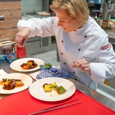 Unser Köchinnen und Köche sind auf zahlreichen Fachmessen, wie z. B. der INTERNORGA in Hamburg, im Einsatz.