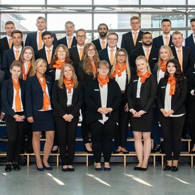 Ausbildungsjahrgang 2018 der Volksbank Mittelhessen