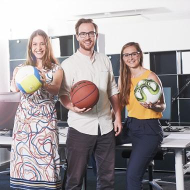#BeraterPersönlichkeiten - Isabel, Kira und Tobi bleiben am Ball – bei den neuesten agilen Methoden und auf dem Spielfeld.