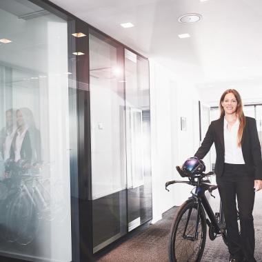 #PowerFrau - Katrin nimmt gerne Fahrt auf – als Projektleiterin und auf dem Rennrad.
