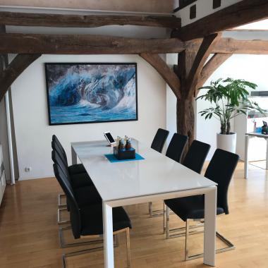 Neue Räumlichkeiten der canacoon in der historischen Schlossanlage in Florstadt - Besprechungsbereich