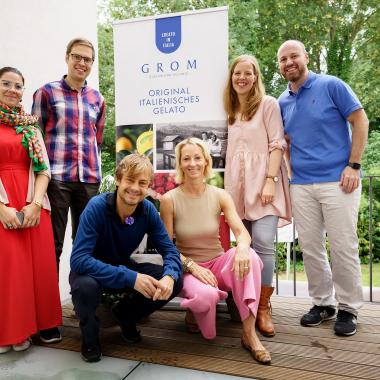 Das Hamburger GROM Team mit GROM-Gründer Guido Martinetti beim Urban Gardening Workshop.