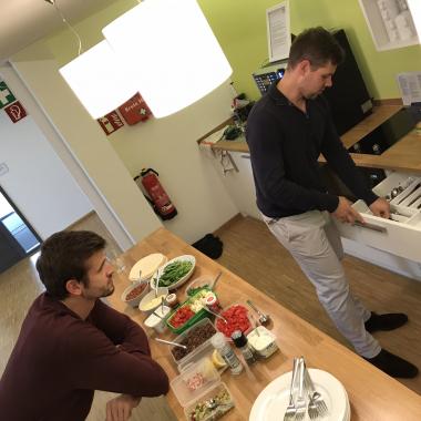 Team Lunch, sooo healthy!