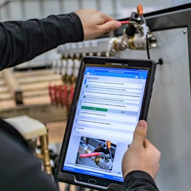 Our product: cioplenu Platform on tablet
