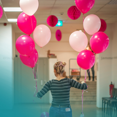 Zum MMS-Kindertag für die Mitarbeiter-Kinder werden unsere Räume auch mal farblich passend hergerichtet!